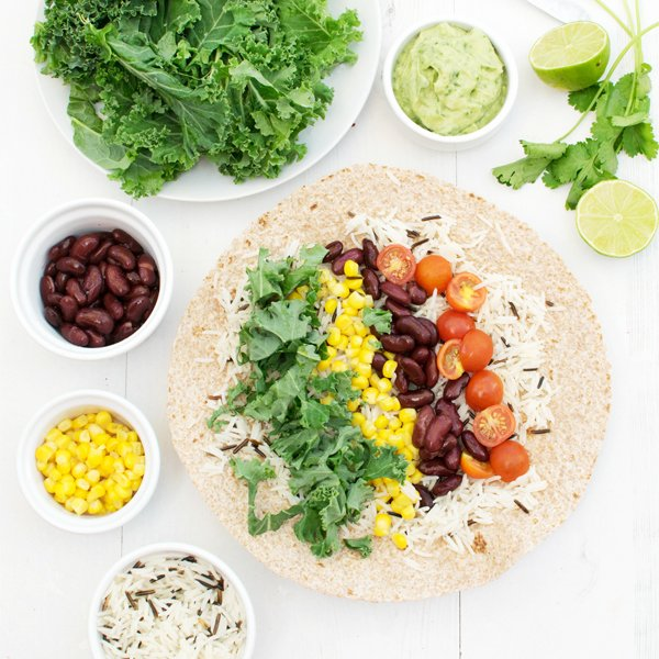 Southwestern Kale Wrap with Creamy Avocado Mayo [vegan] by The Flexitarian