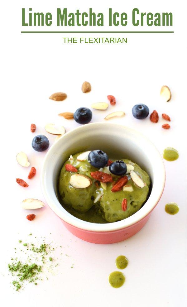 Lime Matcha Ice Cream [vegan] by The Flexitarian
