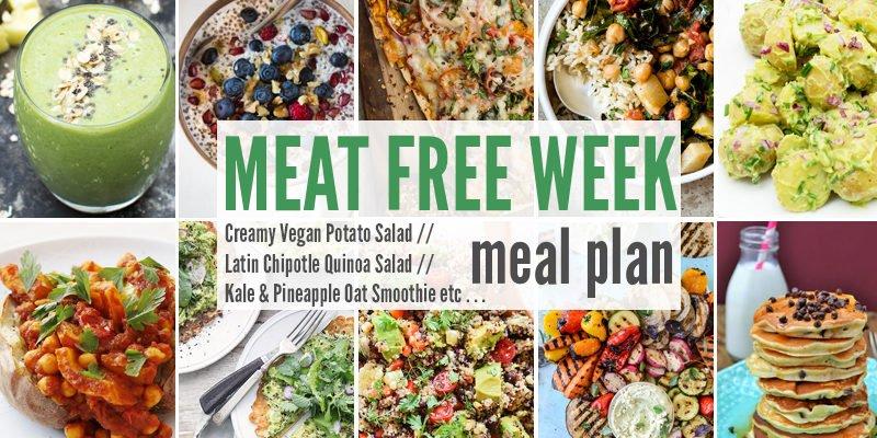 Meat Free Meal Planner: Creamy Vegan Potato Salad, Latin Chipotle Quinoa Salad + Kale & Pineapple Oat Smoothie