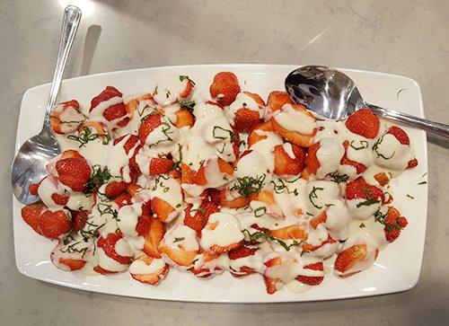 White Miso Strawberries with Soya yoghurt