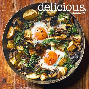 baked-eggs-with-mushrooms-potatoes-spinach-cheese