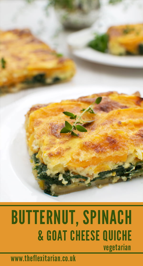 Butternut, Spinach & Goat Cheese Quiche [vegetarian] by The Flexitarian