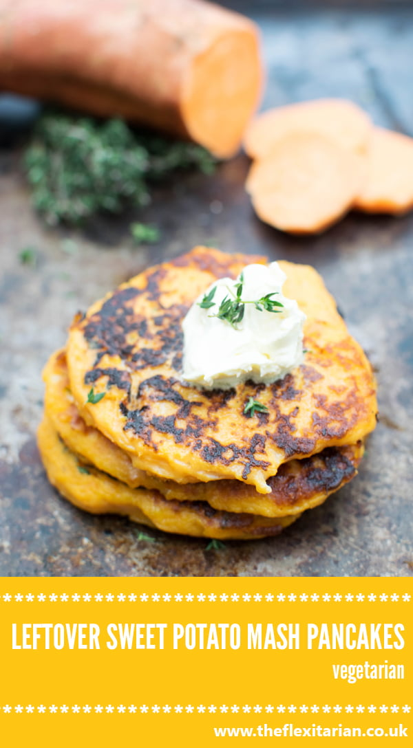 Leftover Sweet Potato Mash Pancake [vegetarian] by The Flexitarian