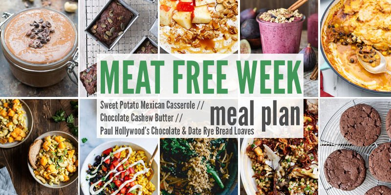 Meat Free Meal Plan: Sweet Potato Mexican Casserole, Chocolate Cashew Butter + Paul Hollywood's Chocolate & Date Rye Bread Loaves