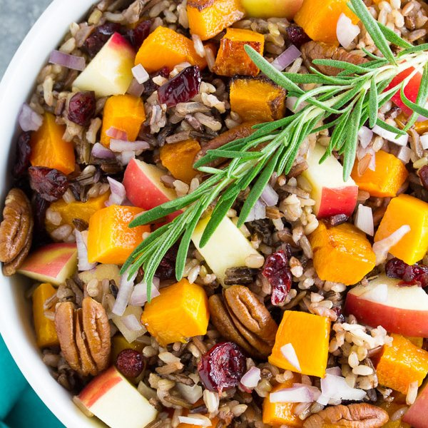 Roasted Butternut Squash and Wild Rice Salad [vegetarian] by Recipe ...