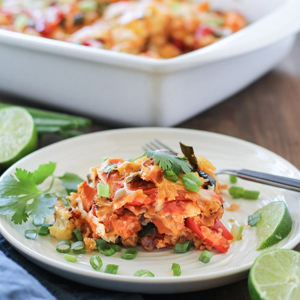 Roasted Vegetable Stacked Enchiladas [vegetarian] by The Roasted Root