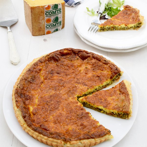 Curried Lentil Quiche with Comté [flexitarian] by The Flexitarian