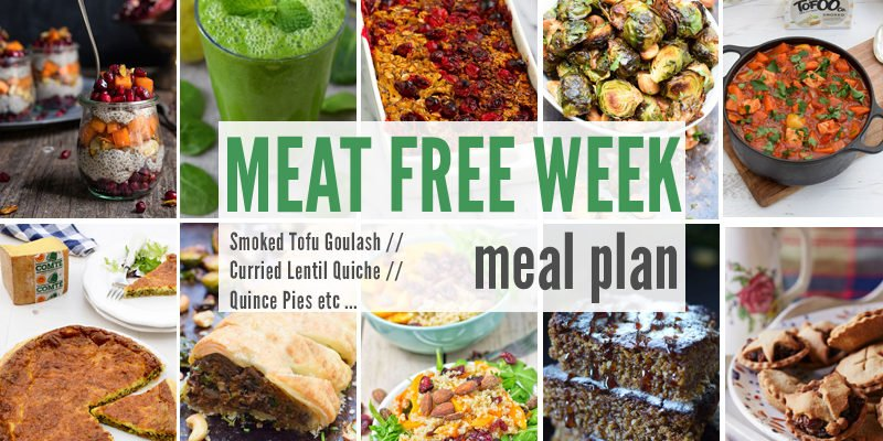 Meat Free Week Meal Plan: Smoked Tofu Goulash, Curried Lentil Quiche and Quince Pies