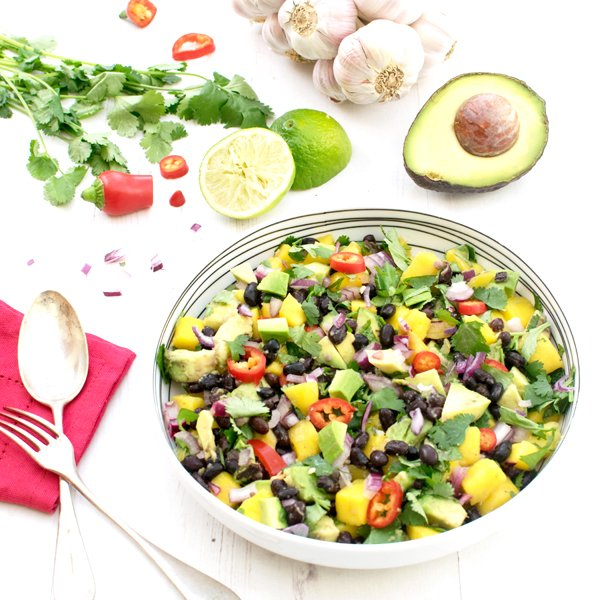 Meat Free Meal Plan: Avocado & Mango Black Bean Salad, Watercress ...