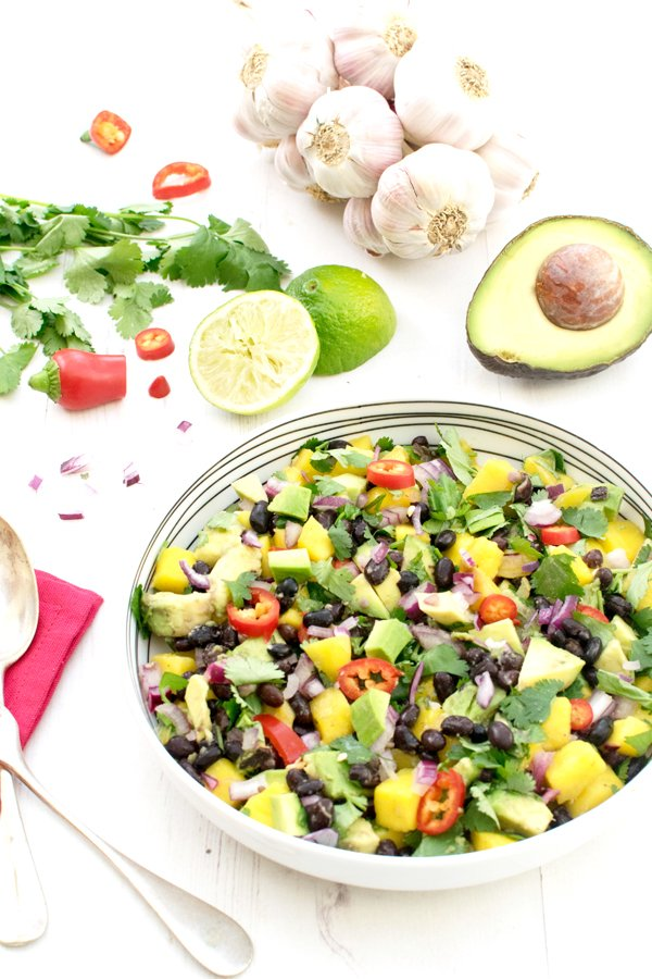 Avocado & Mango Black Bean Salad [vegan] [gluten free] by The Flexitarian