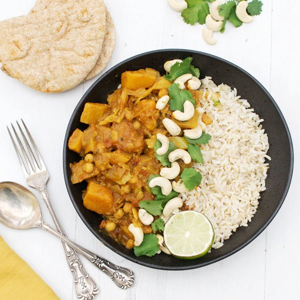 Organic Butternut & Cabbage Mild Curry [vegan] [gluten free] by The Flexitarian