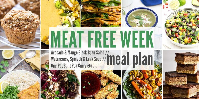 Meat Free Meal Plan: Avocado & Mango Black Bean Salad, Watercress, Spinach & Leek Soup + One-Pot Split Pea Curry