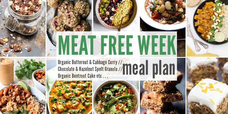 Meat Free Meal Plan: Organic Butternut & Cabbage Curry, Chocolate & Hazelnut Spelt Granola + Organic Beetroot Cake