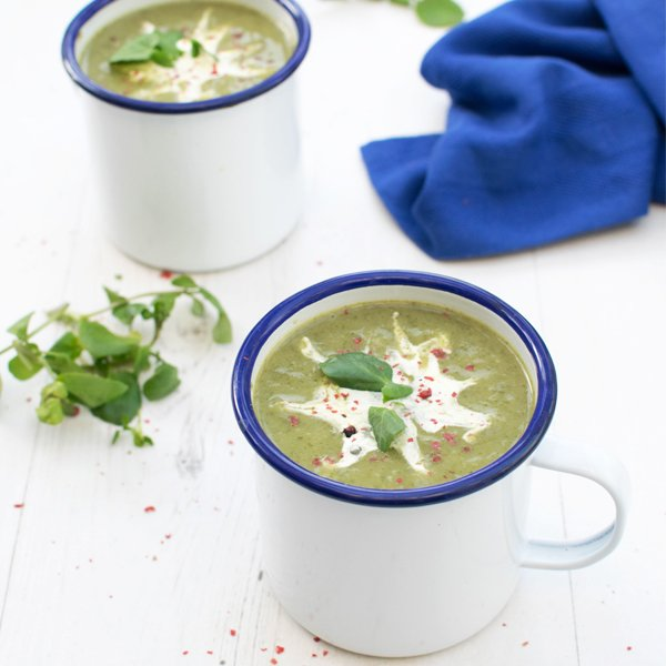Watercress, Spinach & Leek Soup [vegan] [gluten free] by The Flexitarian