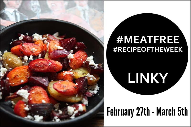 Simple Roasted Beetroot and Carrot Salad + Link Up Your #MeatFree #RecipeoftheWeek Feb 27 - March 5