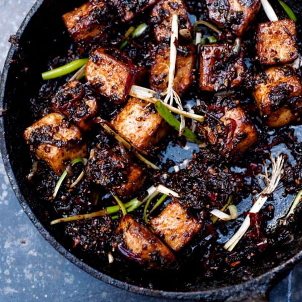 Black Pepper Tofu [vegan] by Yotam Ottolenghi