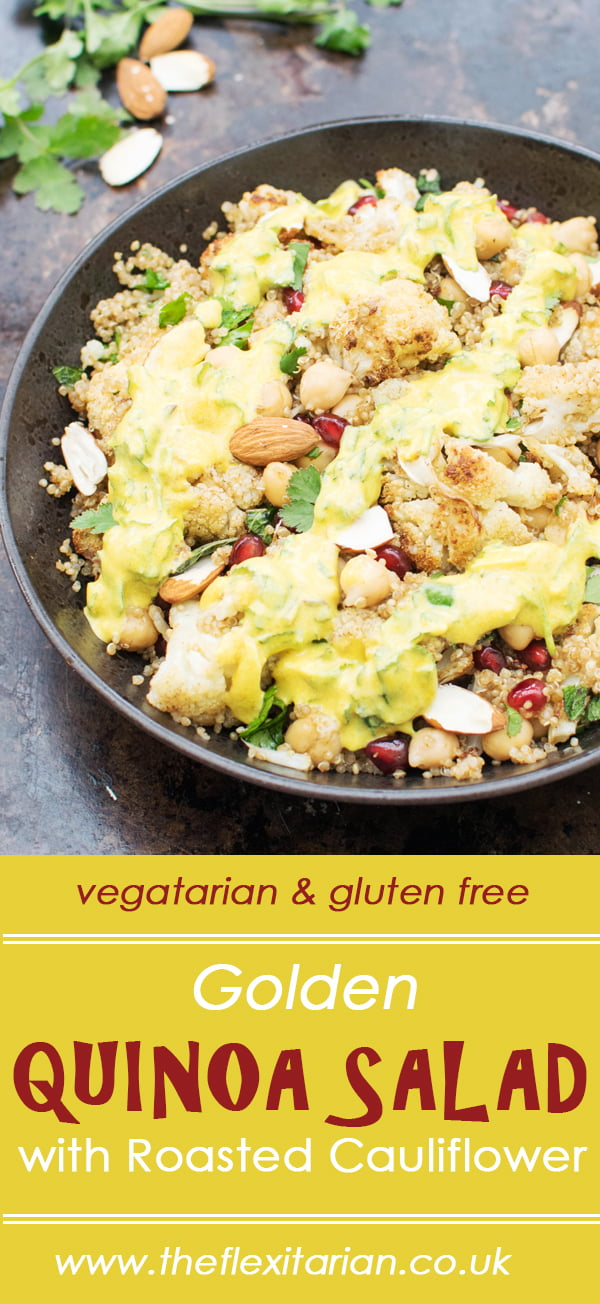 Golden Quinoa Salad with Roasted Cauliflower [vegetarian] [gluten free] by The Flexitarian