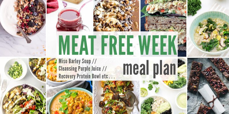 Meat Free Meal Plan: Miso Barley Soup, Cleansing Purple Juice + Recovery Protein Bowl