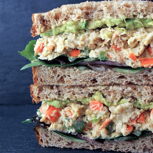 Mashed Chickpea Salad Sandwich [vegan] by The Simple Veganista