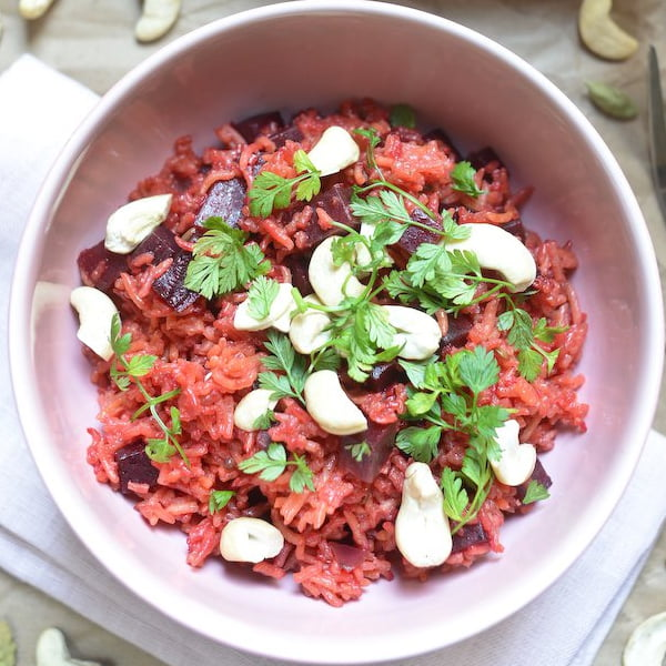 Spiced Pilau Rice with Beets [vegan] by Chocolate & Zucchini