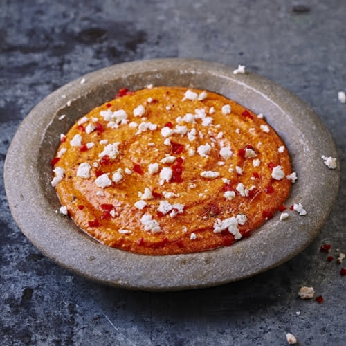 Spicy Feta & Pepper Dip [vegetarian] by Jamie Oliver