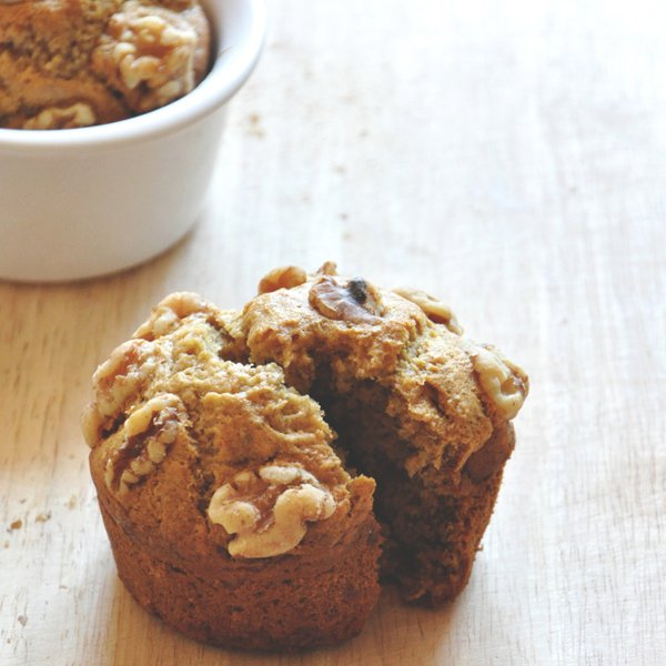 Vegan Banana Nut Muffins for Two by Minimalist Baker