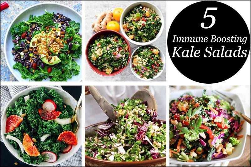 5 Immune Boosting Kale Salad