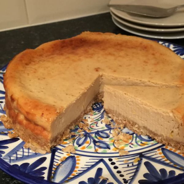 Breadcrumb Baked Lemon Cheesecake [vegetarian] by Skint Dad