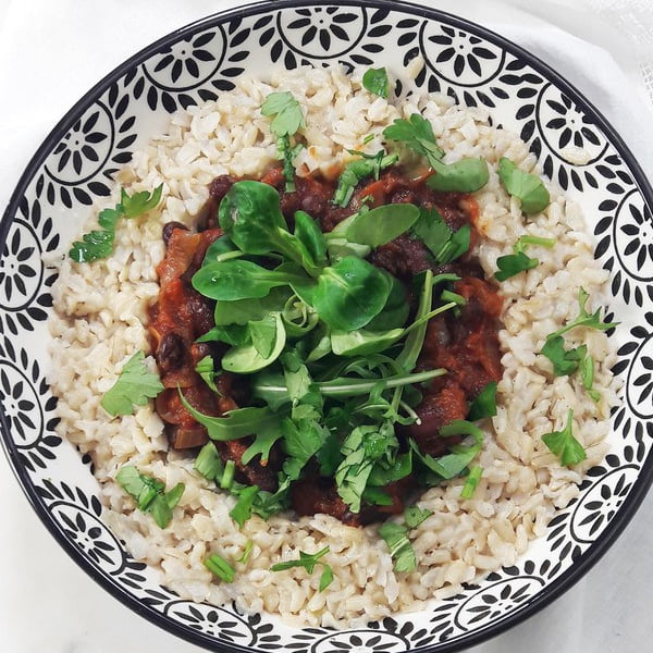 Cajun Brown Rice and Beans [vegan] by A Hedgehog In The Kitchen