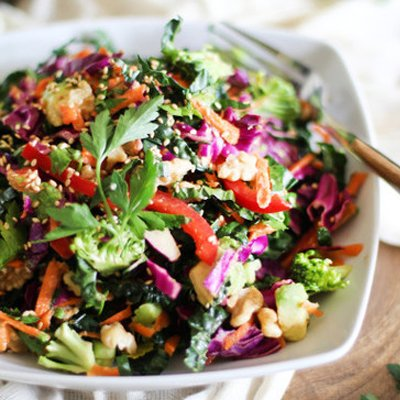 Detox Kale Salad [vegan] via Huffington Post