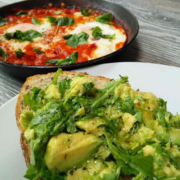 Huevos Rancheros with Avocado Rocket Toast [vegetarian] by Veggie Lad