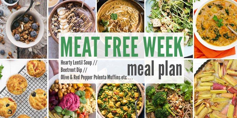 Meat Free Meal Plan: Hearty Lentil Soup, Beetroot Dip + Olive & Red Pepper Polenta Muffins