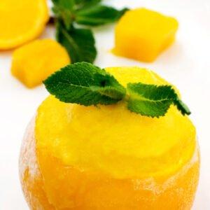 Mango & Orange Ginger Sorbet [vegan] [gluten free]