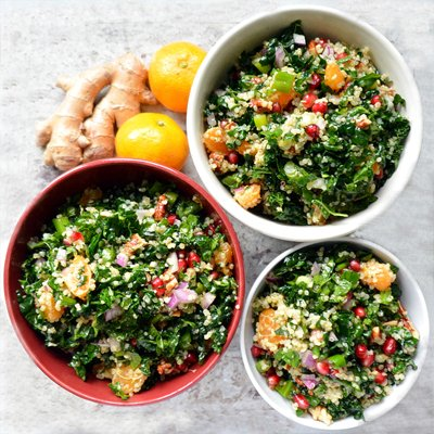 Pomegranate Quinoa Salad with Mandarin Ginger Dressing [vegetarian] by Healthy Life Redesign