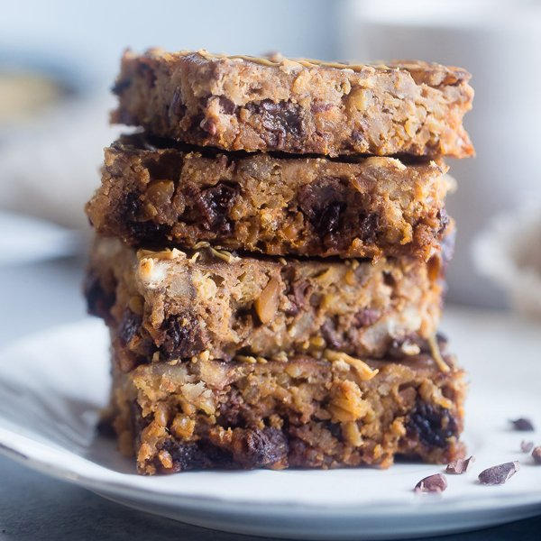 Slow Cooker Steel Cut Oats Energy Bars [vegetarian] by Food Faith Fitness