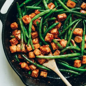 Almond Butter Tofu Stir-Fry [vegan] by Minimalist Baker