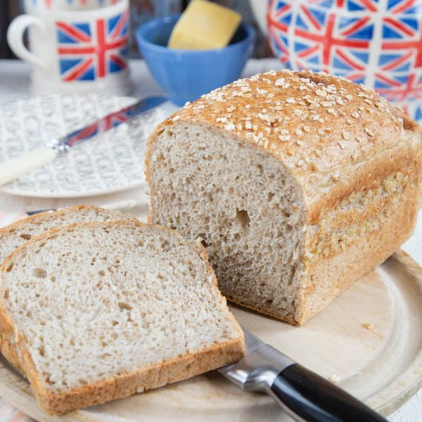 Leftover Porridge (Oatmeal) bread [vegan] by Fuss free Flavours