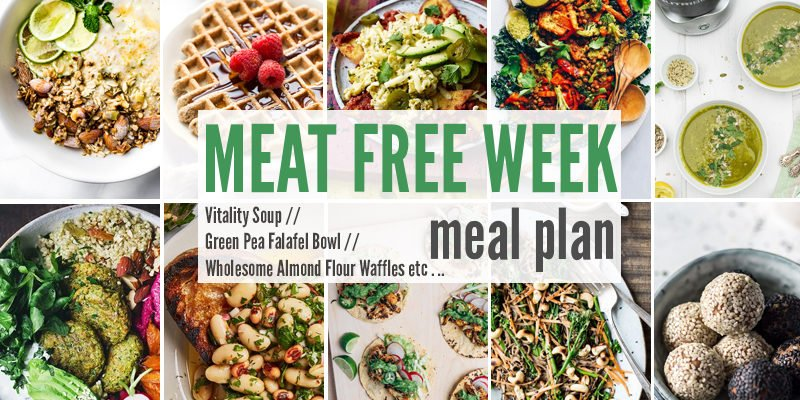 Meat Free Meal Plan: Vitality Soup, Green Pea Falafel Bowl + Wholesome Almond Flour Waffles