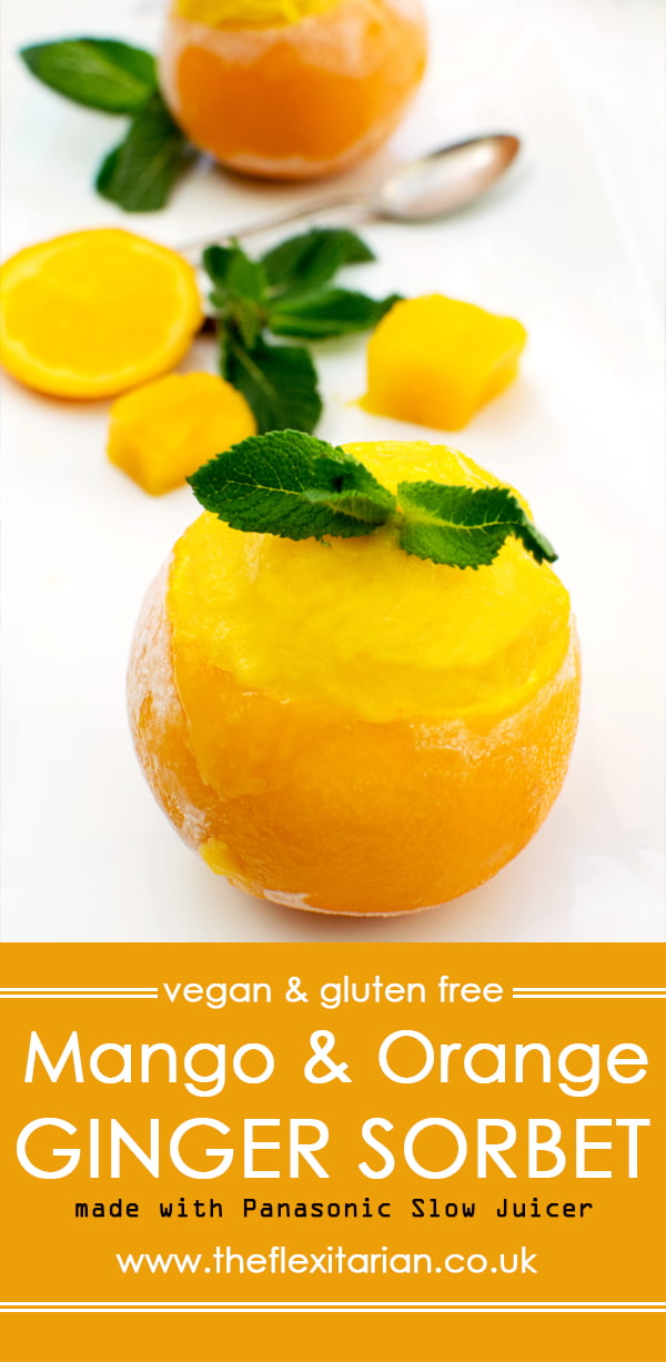 Mango & Orange Ginger Sorbet [vegan] [gluten free] by The Flexitarian