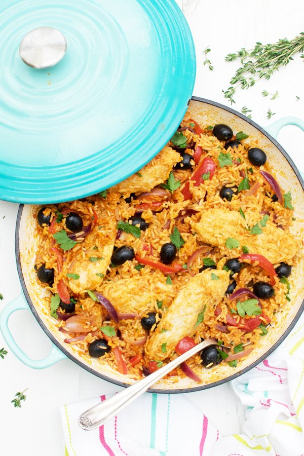 One Pot Spanish Quorn Chicken Amp Rice Vegan