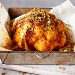 Whole Roasted Cauliflower with Garlic and Paprika [vegetarian] by Tesco RealFood