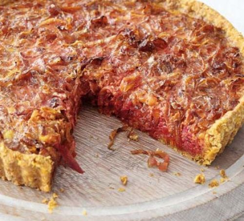 Beet & Caramelised Onion Tart [vegetarian] by BBC Good Food