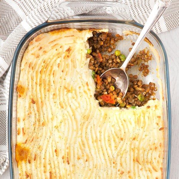 Spicy Lentil Vegetarian Shepherd's Pie by A Mummy Too