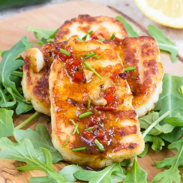 Crispy Fried Marinated Halloumi [vegetarian] by Fuss Free Flavours