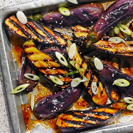 Grilled Miso and Honey-Marinated Aubergines [vegetarian] via Sainsbury's