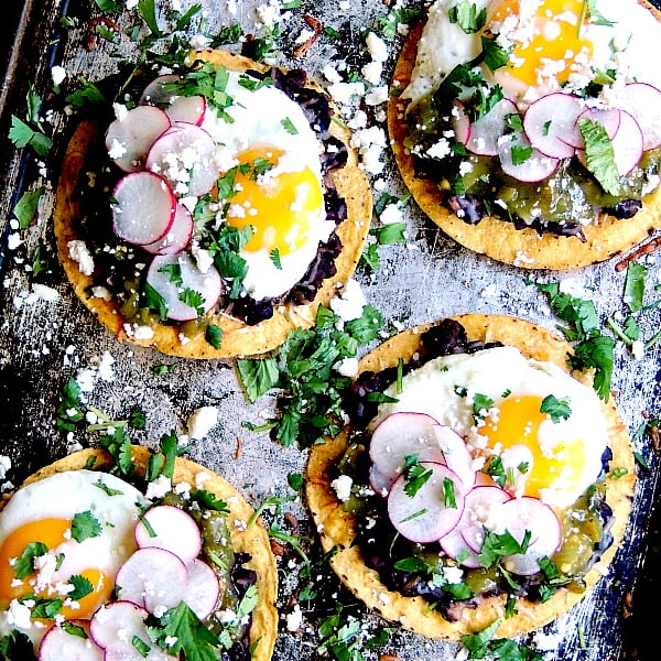 Huevos Rancheros Tostadas [vegetarian] by Bobby's Kozy Kitchen