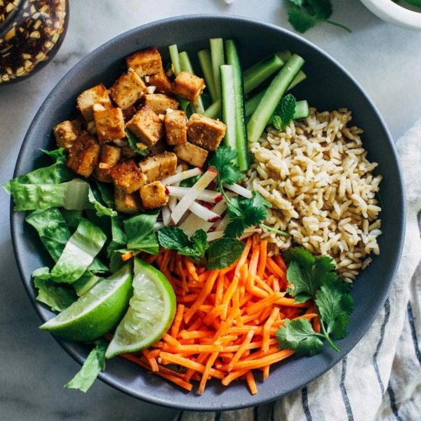 Lemongrass Tofu Bowls [vegan] by Making Thyme For Health