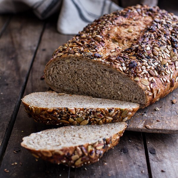Seeded Whole Grain Breakfast Bread [vegetarian] by Half Baked Harvest