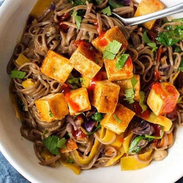 Vegan Curry Soba Noodles With Crispy Tofu via My Fitness Pal