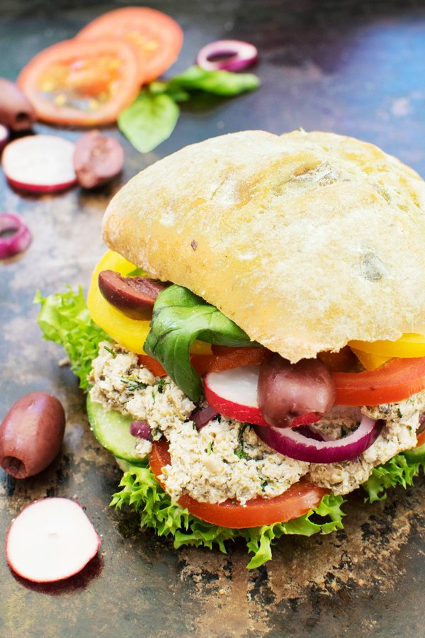 Vegan Tuna Pan Bagnat by The Flexitarian
